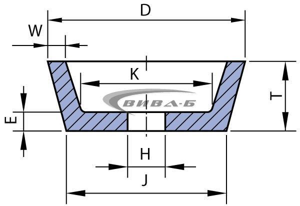 Абразивен диск БЯЛ форма F11 80/57х32х20x6x8x46 22A36 1