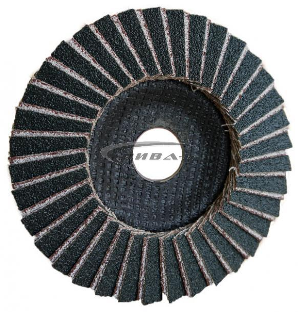 Комбиниран ламелен диск от шкурка за шлайфане на алуминий 125 Р40