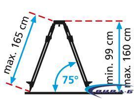 Тринога Alu-Light Tripod 165 cm 1