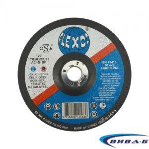 Карбофлексов диск за шлайфане на метал SwatyComet Flexco 178х6х22