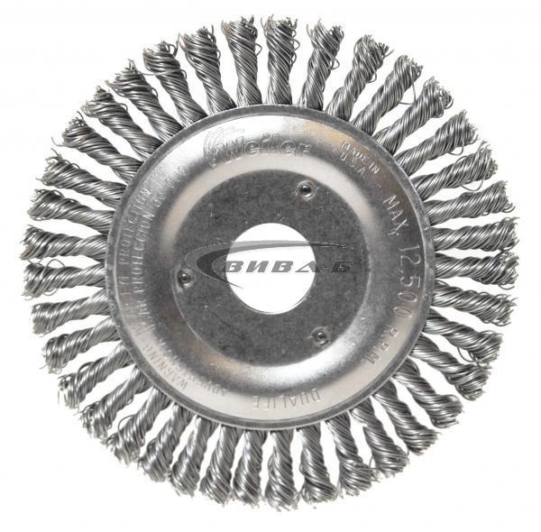 Телена дискова четка за ъглошлайф от усукана стоманена тел 115х6x22.2