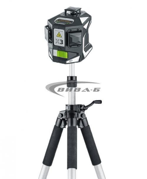 Зелен линеен лазер X3-Laser Pro в комплект с тринога VarioStand L300