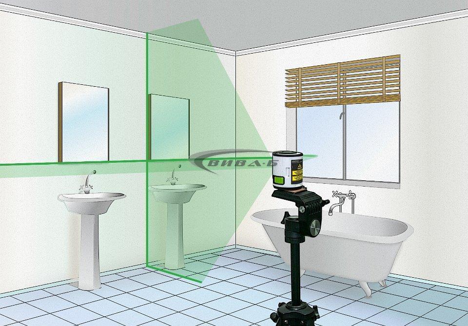 Линеен зелен лазерен нивелир EasyCross-Laser Green 3
