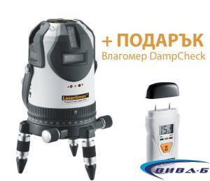 Линеен лазер PowerCross-Laser 8 S + ПОДАРЪК Влагомер DampCheck