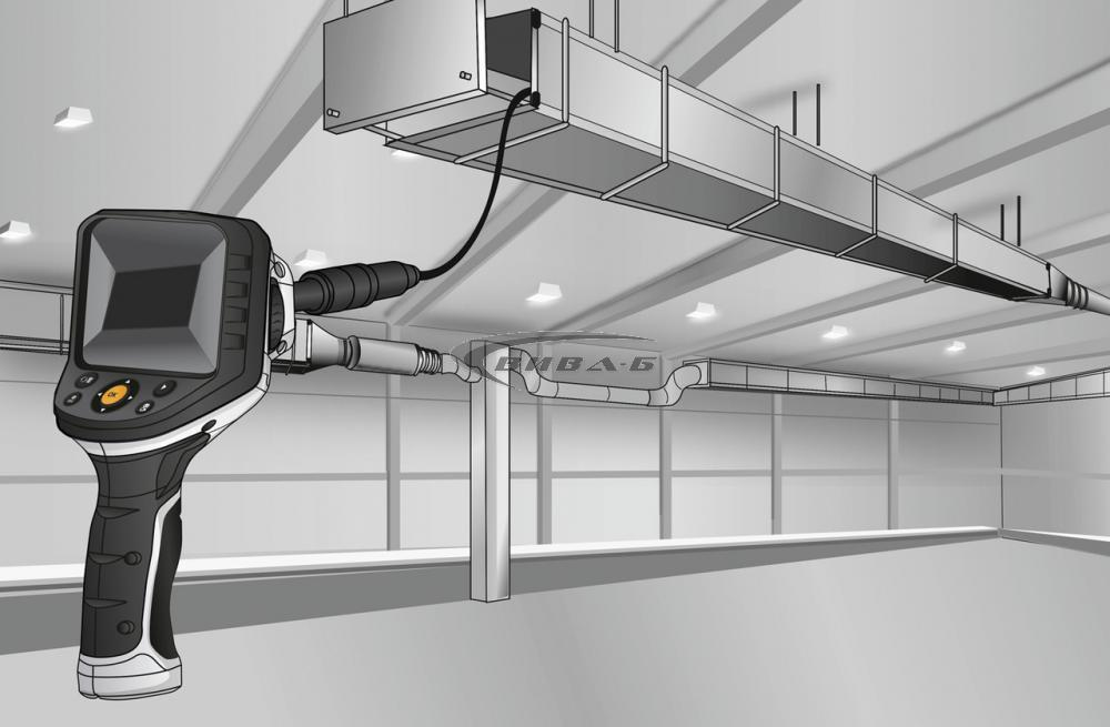 "Видеоконтролер Laserliner VideoFlex G4 Ultra 9мм, 10.0м, 3.5"" + Челник Walther Pro HL17 9"