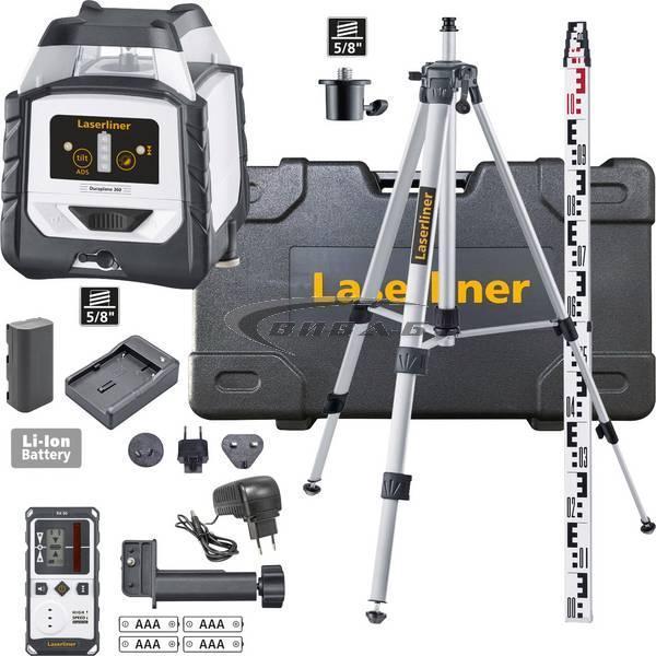 Червен линеен лазер DuraPlane 360 set 175 см