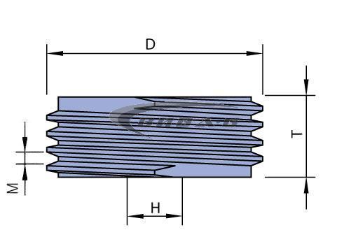 Абразивен диск за зъбошлайф REISHAUER F1Z 82A100 300x125x160-M4 1