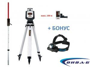 Ротационен лазер Cubus 110 S set + БОНУС Walther Pro HL17
