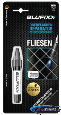 UV ремонтен гел BLUFIXX за плочки, мрамор, гранит, черен, 5гр, резервен пълнител