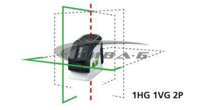 Зелен линеен лазер MasterCross-Laser 2GP в комплект с бързозарядно устройство 7