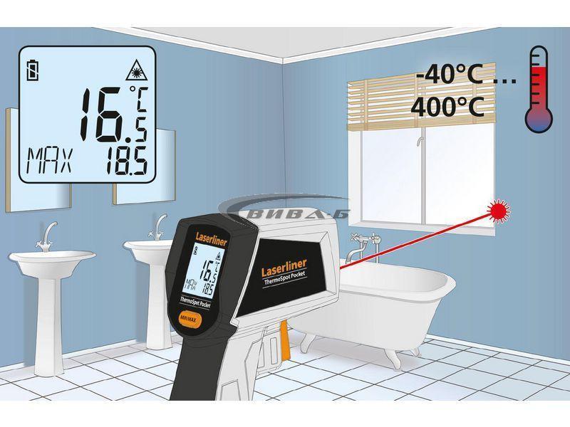 Безконтактен термометър Laserliner ThermoSpot Pocket 5