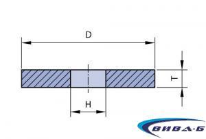Абразивен диск за шлайфане на автомобилни глави F1 350x63x127 9С60 1