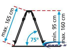 Тринога с куполна глава  Alu-Light Tripod 165 cm 1