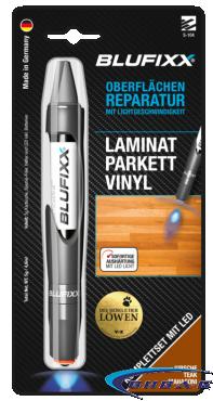 UV ремонтен гел BLUFIXX за ламинат, паркет, винил, череша, 5гр, комплект със светодиод