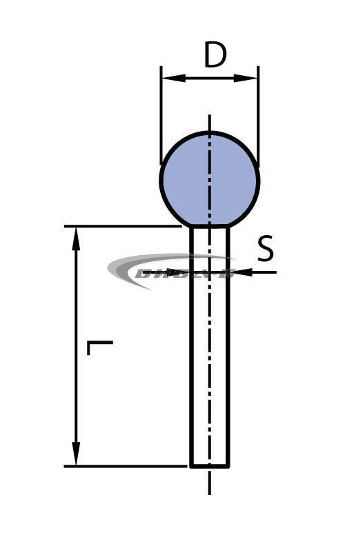 Шлайфгрифер керамичен сфера за леярната индустрия ОH 50-8 41А 1