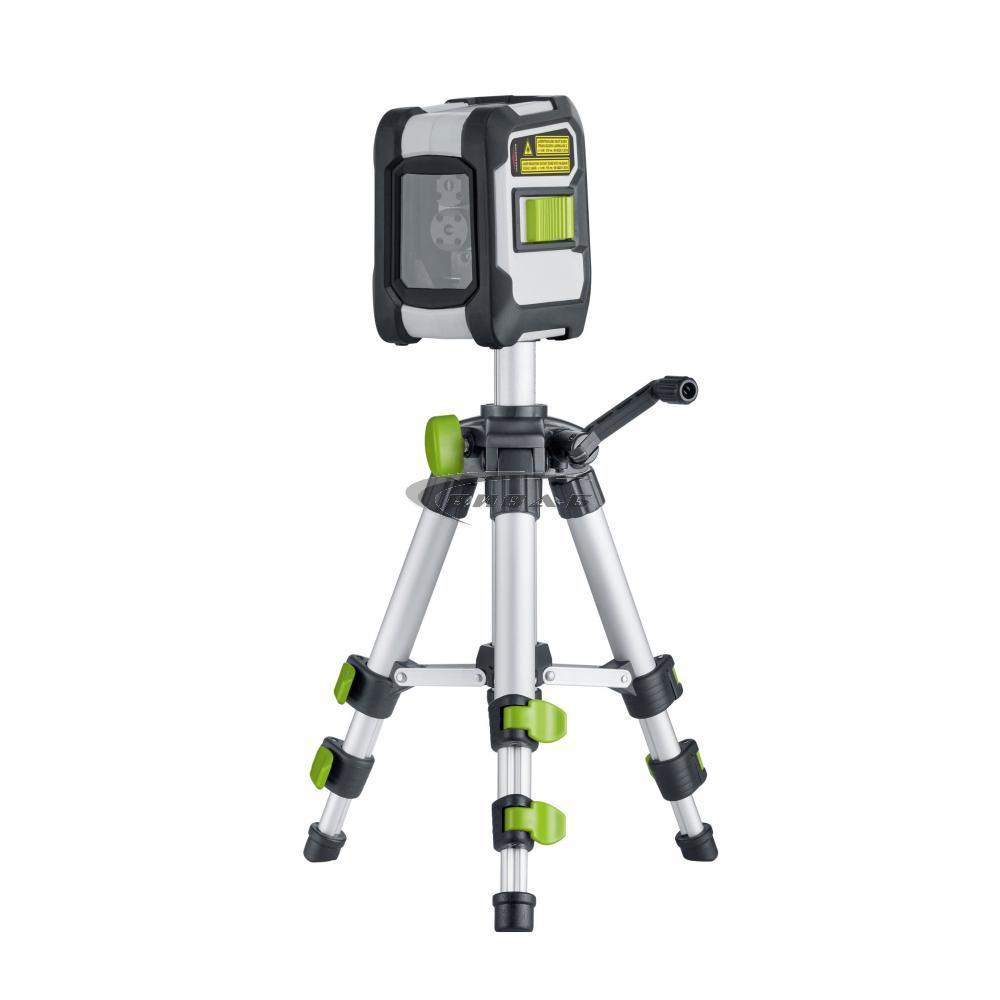 Зелен линеен лазерен нивелир CompactCross-Laser Pro Set 3