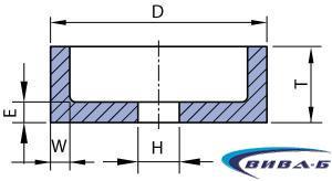 Абразивен диск форма F6 100х50х20-8х10 22A60 1