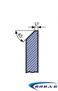 Двуслоен абразивен диск за заточване на банцингови ленти и триони 175х13х32 1