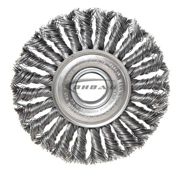 Телена дискова четка за ъглошлайф от усукана неръждаема тел 115х12x22.2