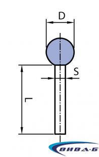 Шлайфгрифер керамичен сфера за леярната индустрия ОH 40-8 41А 1
