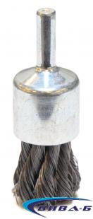 Телена конусна четка за прав шлайф от усукана неръждаема тел 20х6