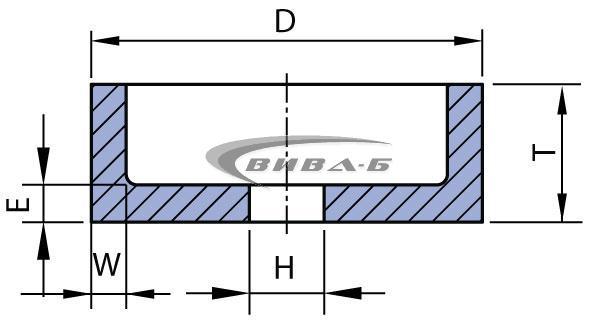 Абразивен диск форма F6 80х40х20-8х10 40A80N 1