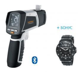 Безконтактен термометър/влагомер Laserliner CondenseSpot XP + Ръчен часовник Laserliner