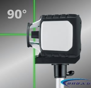 Зелен ротационен лазер Cubus G 210 S в комплект със статив 150 см и телескопична нивелираща лата LT 4м 2