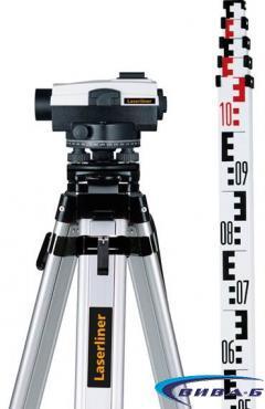 Оптичен нивелир Laserliner AL 26 Plus комплект с тринога с куполна глава и лата