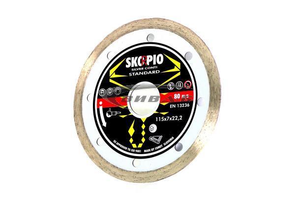 Диамантен диск за рязане на гранитогрес Silver Conti 178x25.4