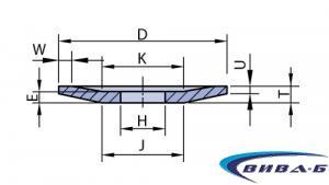 Абразивен диск БЯЛ форма F12 80/31x10/2.5x13-4x6x31 1
