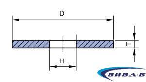 Абразивен диск за шмиргел прав профил 150х20 с преходни втулки 2