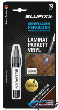 UV ремонтен гел BLUFIXX за ламинат, паркет, винил, тъмен дъб, 5гр, резервен пълнител