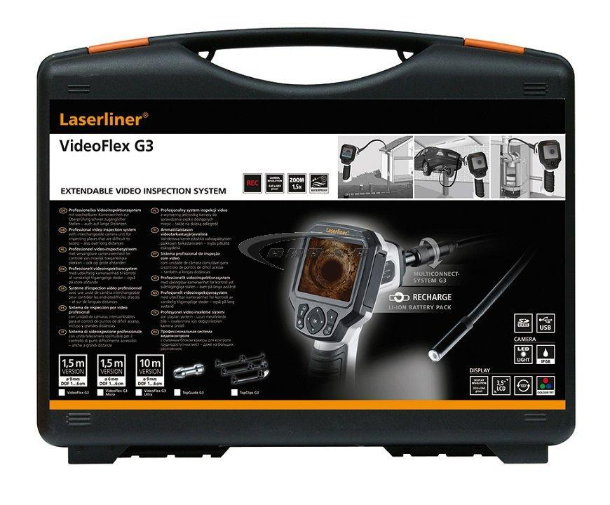 Видеоконтролер Laserliner VideoFlex G3 9 мм 1,5м +БОНУС Walther Pro HL17 3