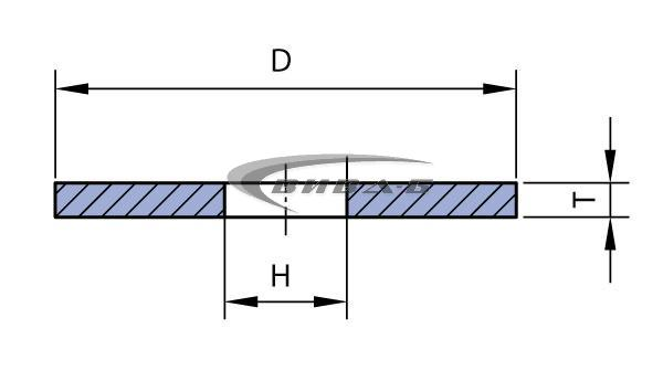 Абразивен диск за шмиргел прав профил 200х20 с преходни втулки 2