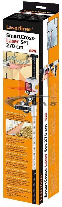 Линеен лазерен нивелир SmartCross-Laser set 270 2