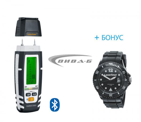 Влагомер DampMaster Compact Plus + БОНУС часовник Laserliner