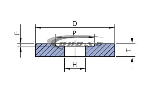Абразивен диск форма F5 400x63x203-255x25 1