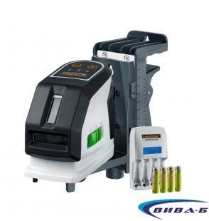 Зелен линеен лазер MasterCross-Laser 2GP в комплект с бързозарядно устройство