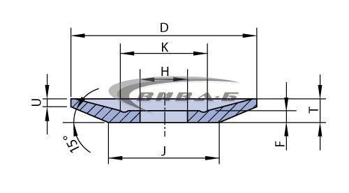 Абразивен диск за зъбошлайф MAAG F12M 3SA80 220x18/4x90 1