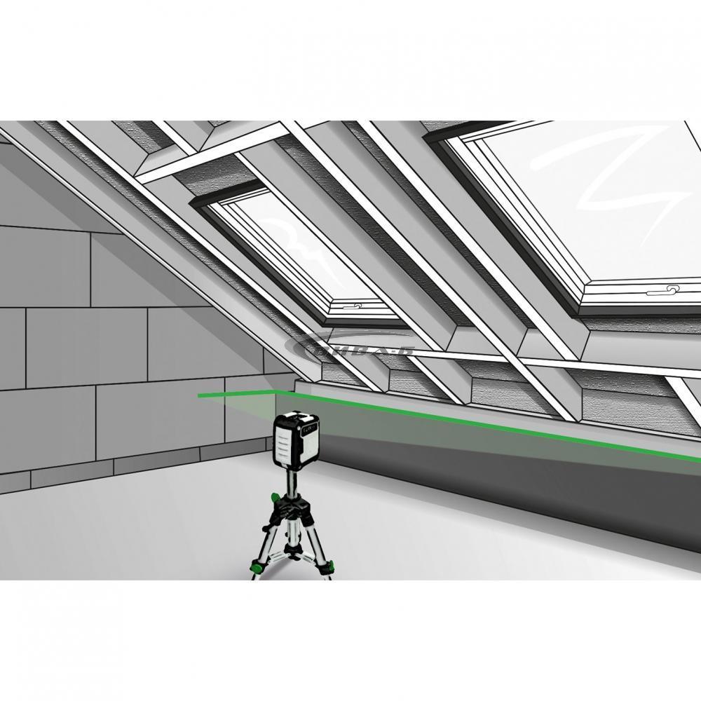 Зелен линеен лазерен нивелир CompactCross-Laser Pro Set 7