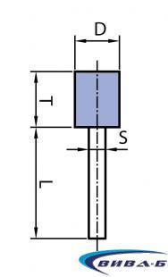 Шлайфгрифер керамичен цилиндър за леярната индустрия ОB 30x40-8 41А 1