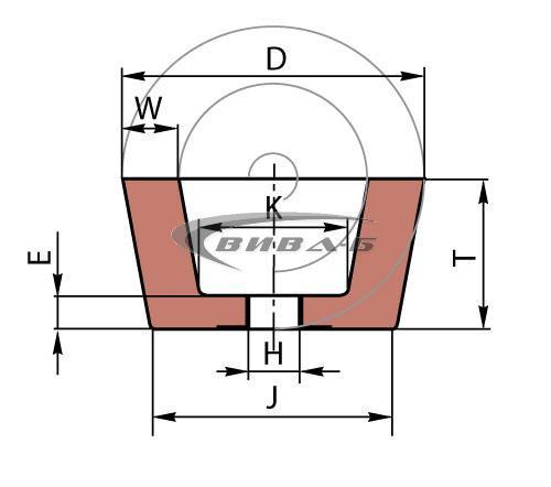 Карбофлексова камбана за шлайфане на мозайка SwatyComet 110x55x22.2 C60 3