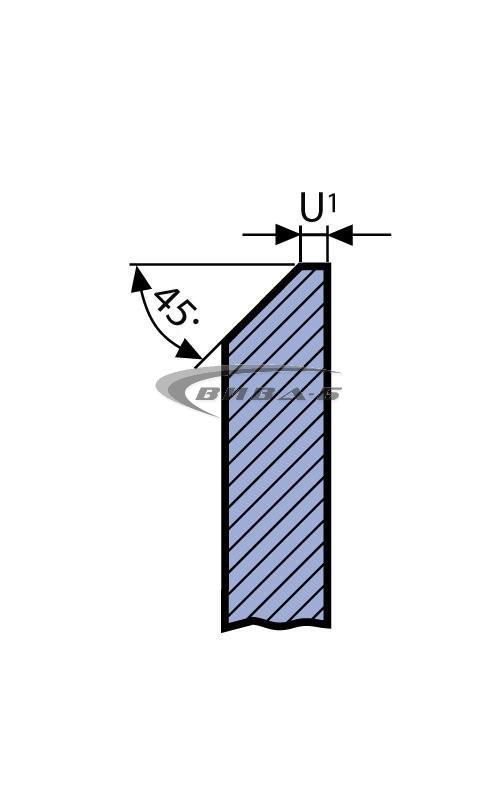 Двуслоен абразивен диск за заточване на банцингови ленти и триони 250х13х32 1