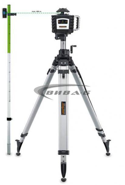Зелен ротационен лазер Quadrum Green 410 S + БОНУС тринога и рейка