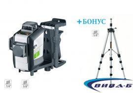 Зелен линеен лазер SuperPlane-Laser 3G Pro + БОНУС тринога Compact tripod 300 cm