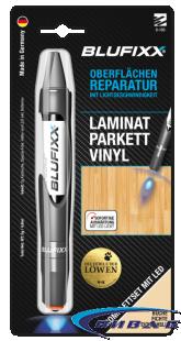 UV ремонтен гел BLUFIXX за ламинат, паркет, винил, бук, 5гр, комплект със светодиод