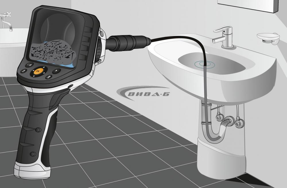 "Видеоконтролер Laserliner VideoFlex G4 Ultra 9мм, 10.0м, 3.5"" + Челник Walther Pro HL17 7"