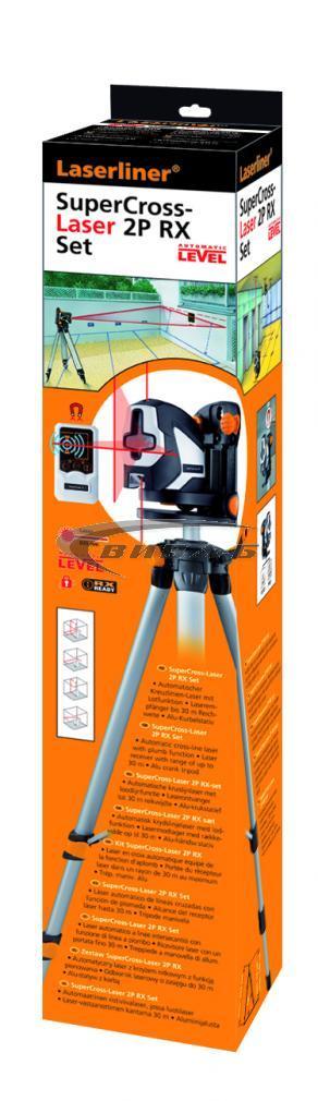 Линеен лазерен нивелир SuperCross-Laser 2P RX set 150 cm 1