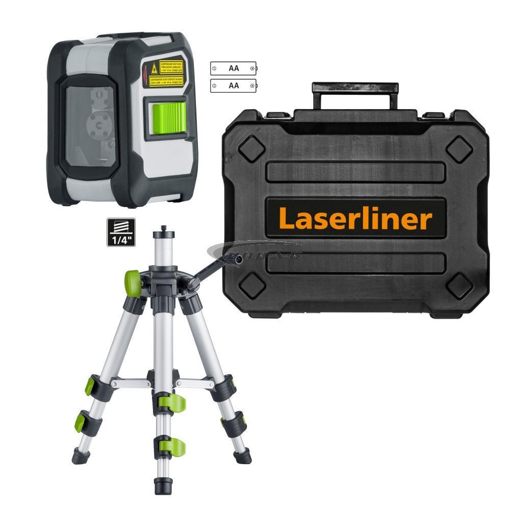 Зелен линеен лазерен нивелир CompactCross-Laser Pro Set 2